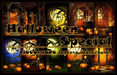 Halloween Special, fantasy backgrounds by KlaraKay