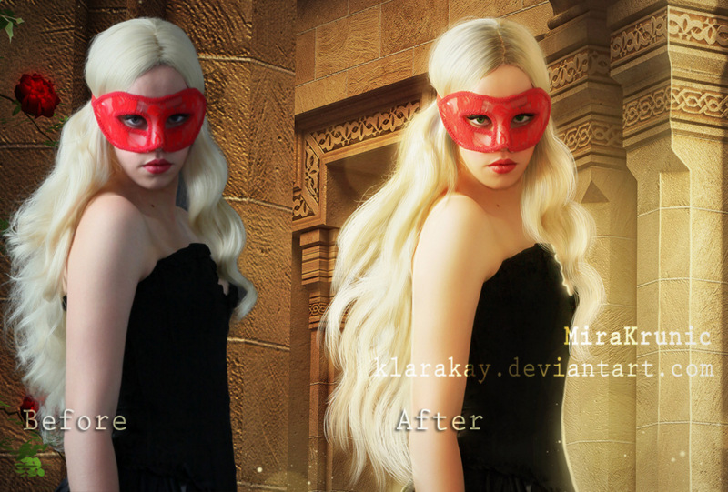 Rose...before and after by KlaraKay