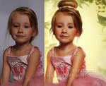 Easter Little Princess...before and after