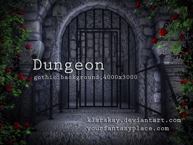 Dungeon, gothic background by KlaraKay
