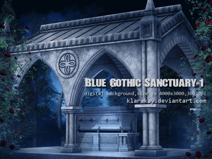 Blue Gothic Sanctuary-1 by KlaraKay