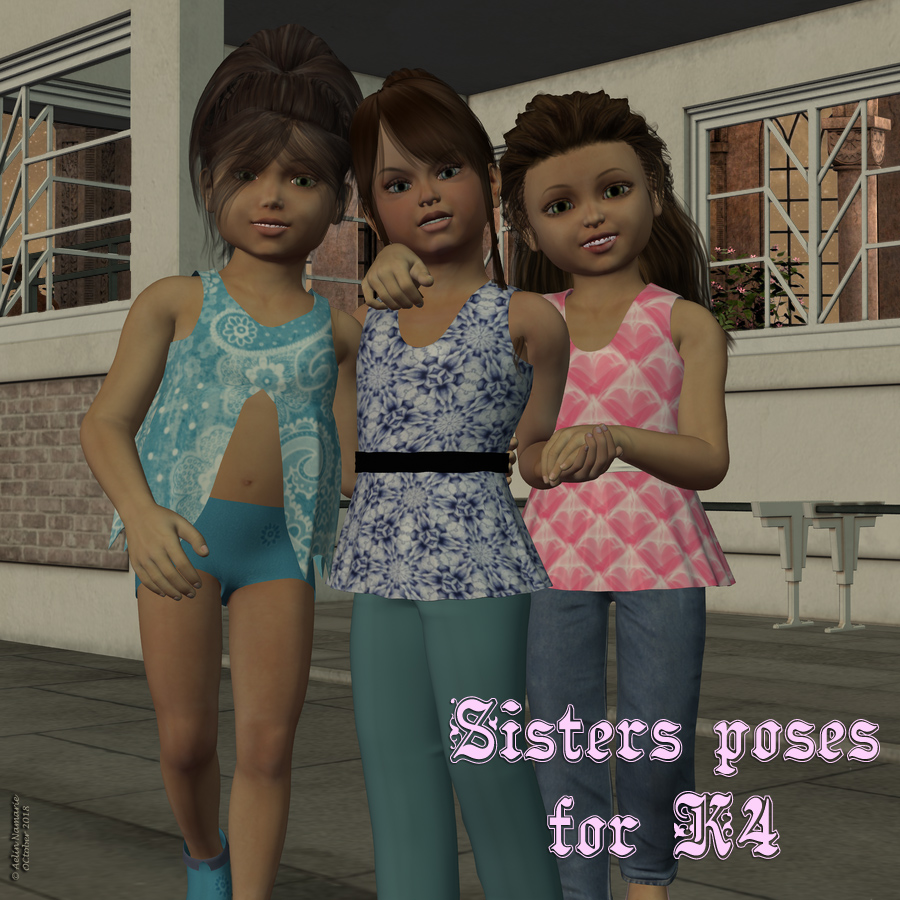 Sisters poses for K4