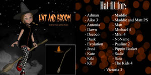 Hat and Broom (freebie)