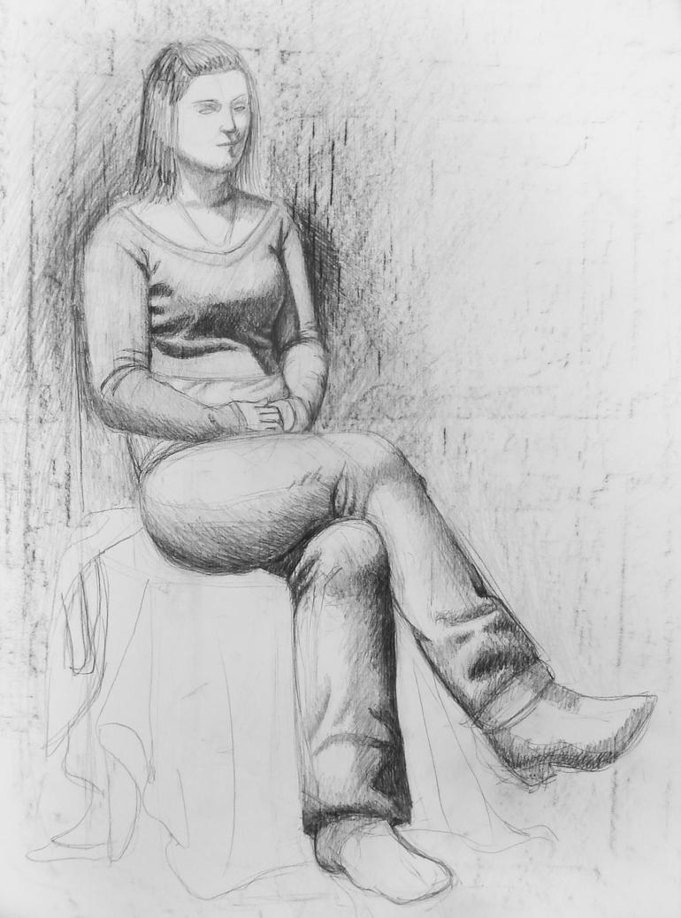 Full Body Portrait Pencil