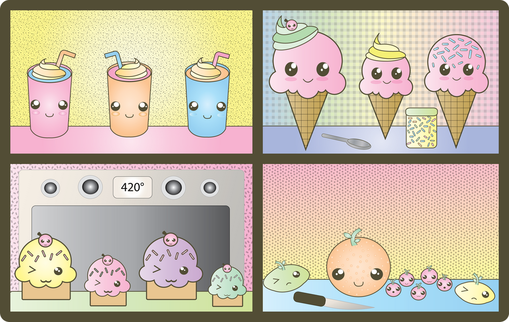 Kawaii foods wallpaper by leahzebelle on deviantart - Kawaii food wallpaper ...