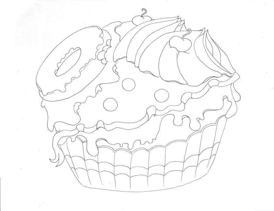 Festive Copic Cake Line Art by Leahzebelle on deviantART