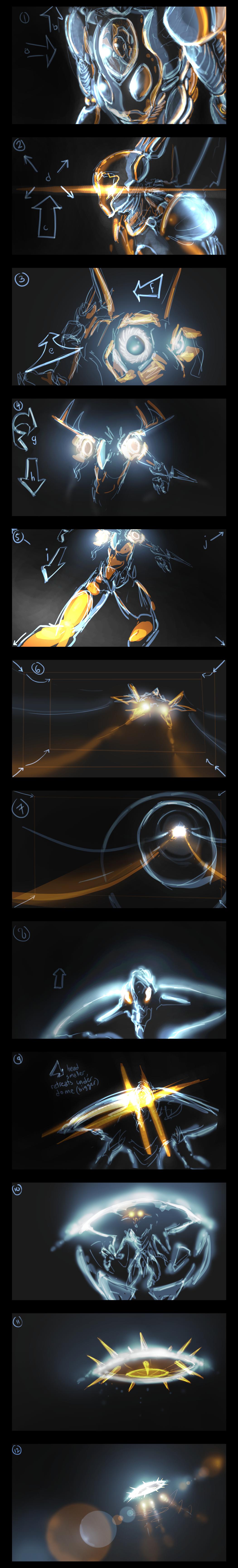 spaceFIGHTstoryboardSTRIP by war-machine
