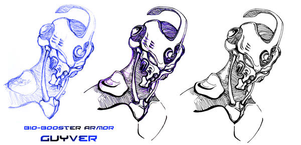 Guyver line art by war-machine