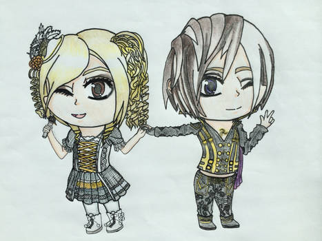 YOHIO then and now: chibis