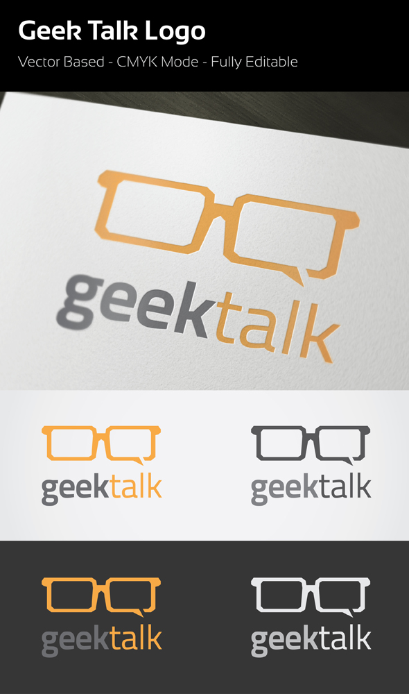 Geek Talk Logo by flatsguts