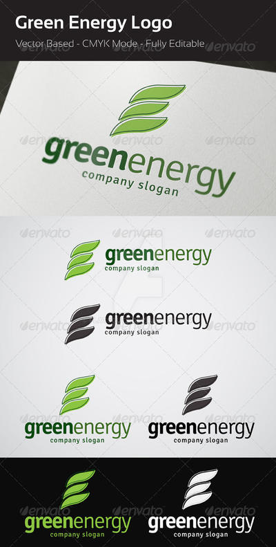Green Energy Logo by flatsguts