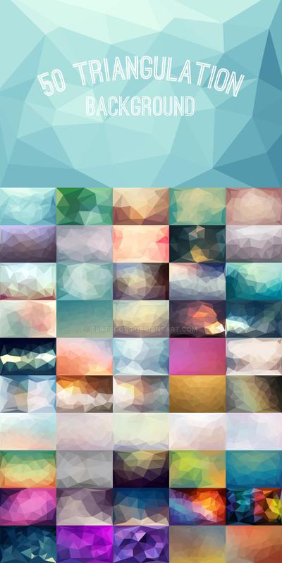 50 Triangulation Background by flatsguts
