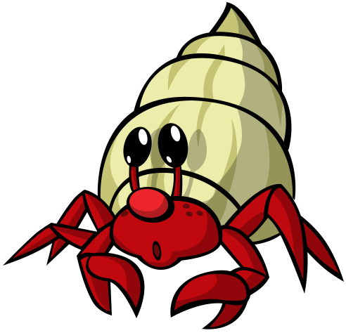Cartoon Hermit Crab Royalty Free Cliparts, Vectors, And Stock ...