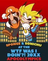 Sponge and Sonichu at the Apocolympics by eKarasz