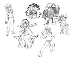 Other's OC Sketchdump (except two)