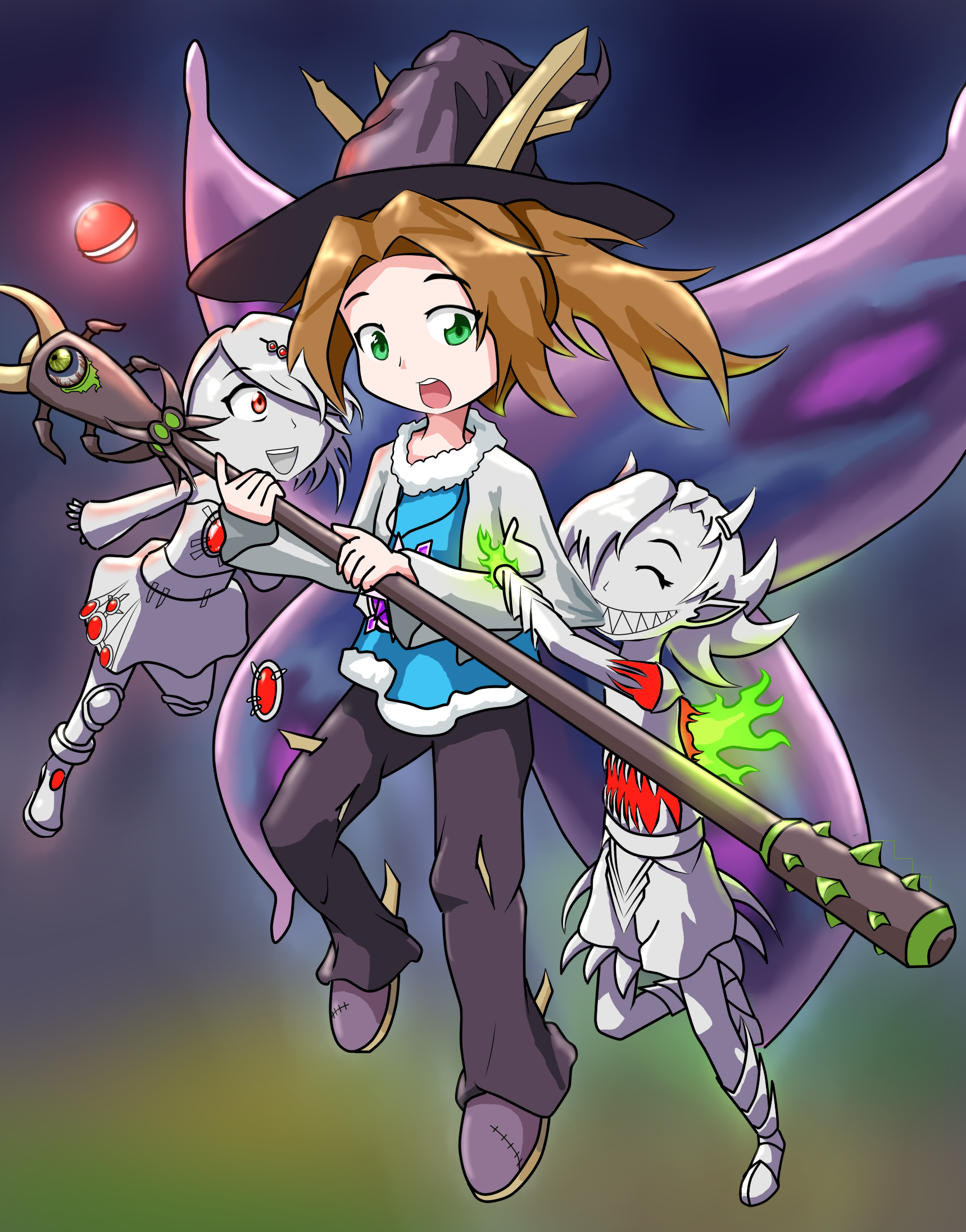 Anime Characters In Terraria : Terraria fan art alicia and the twins by jon smitten on