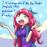 Terraria fan-art: Stylist's troubles (Ends fried)