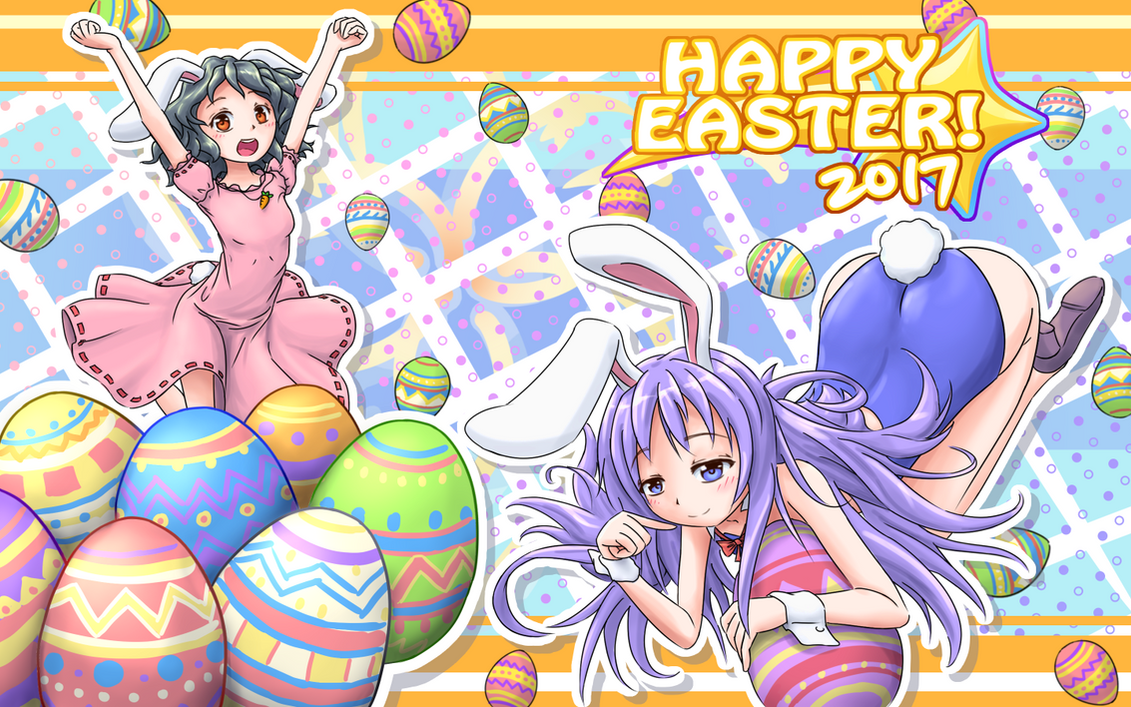 Easter 2017 (Rabi-Ribi + Touhou fan-art) by Jon-Smitten