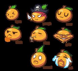 orange emojis