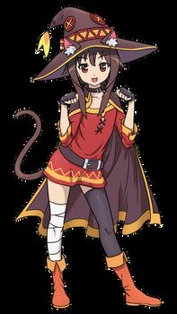Konosuba fan-art: Neko Megumin