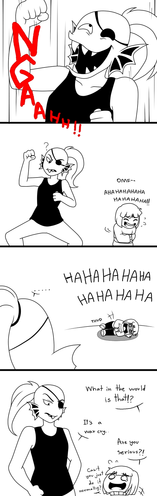 Undertale Comics: Undyne's war cry by aimturein