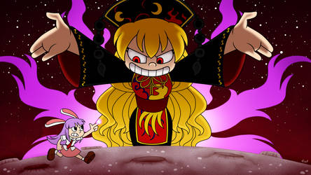 Touhou 15 but it is in Cuphead Style
