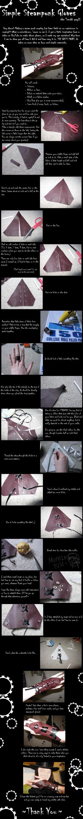 Simple Steampunk Gloves Tut. by tenshiketsueki1000