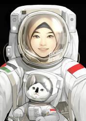 Astronaut Hijab Girl by akbarbisul