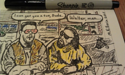 The Dude and Walter by xtraneus