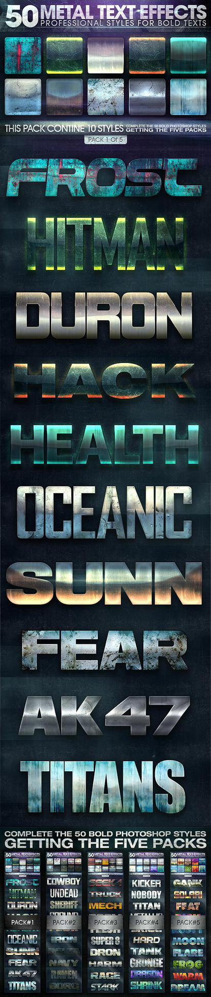 50 Metal Text Effects 1 of 5 by fluctuemos