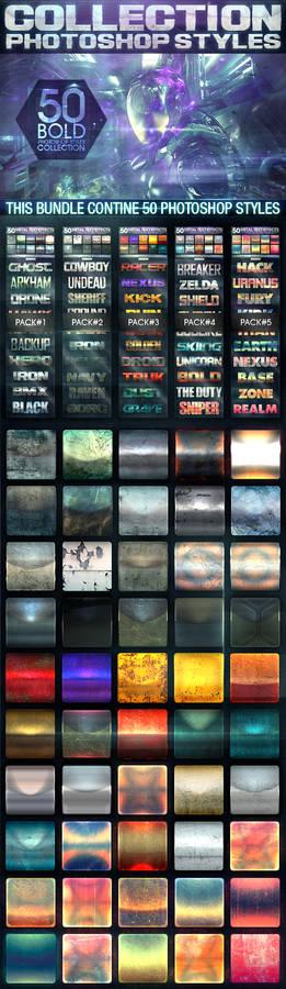 50 Metal Text Effects [Bundle V1]