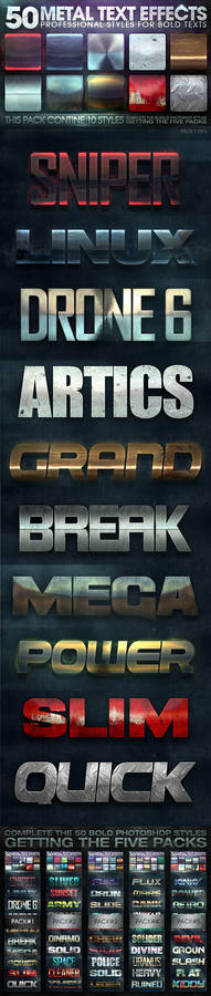 50 Metal Text Effects 1 of 5
