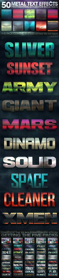 50 Metal Text Effects 2 of 5