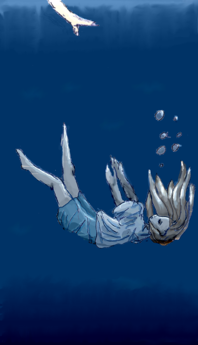 drowning by ewolf on deviantart