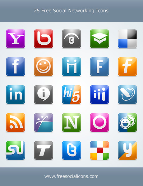 25 Free Social Networking Icon