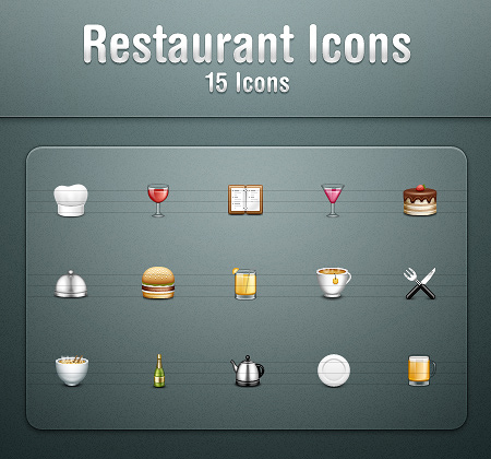 Restaurant icons by kyo tux on deviantart for Restaurant kyo