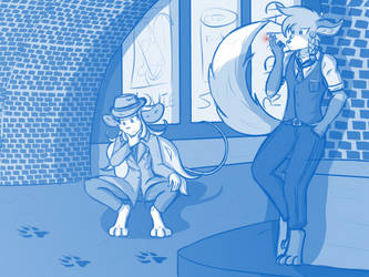 Sketch - Detectives Em and Kayl Are on the Case! by ThunderFoxArt
