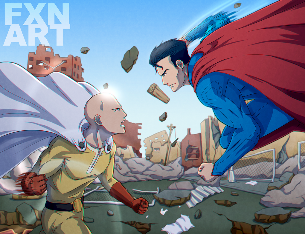 One Punch Man Vs Superman By FXNart
