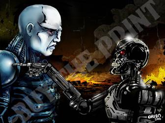 Prometheus vs Terminator by futprntsworkshop