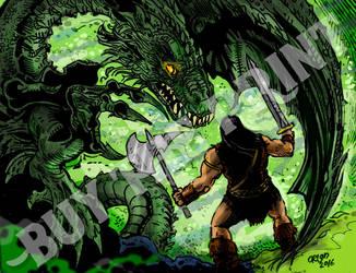 Dragon Warrior by futprntsworkshop