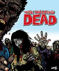 The Walking Dead by Orign by futprntsworkshop