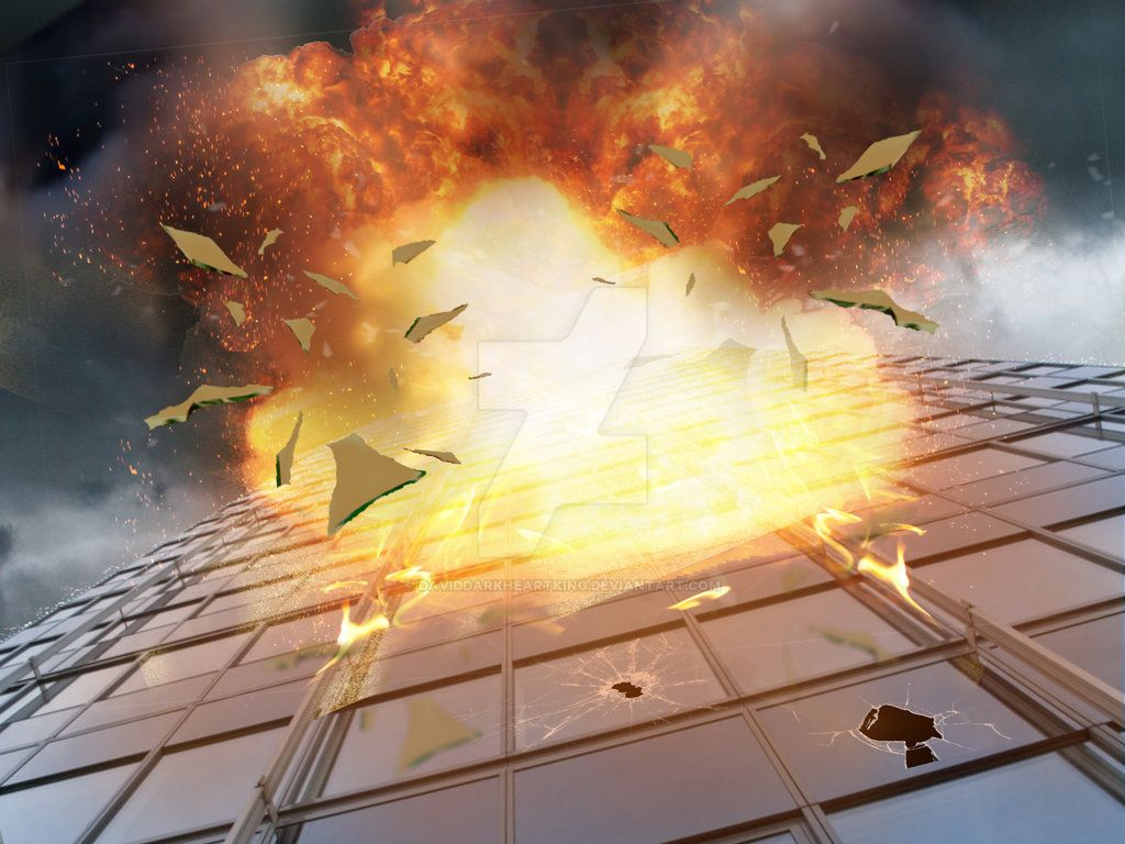 Explosion Premade Background by DavidDarkheartKing
