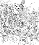 Kaiju vs Mech