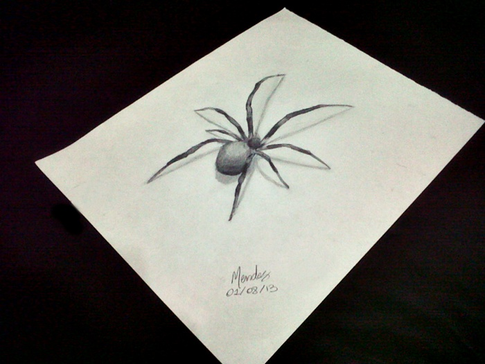 Drawing 3d The Spider 1 Brasil By Mendiis On Deviantart