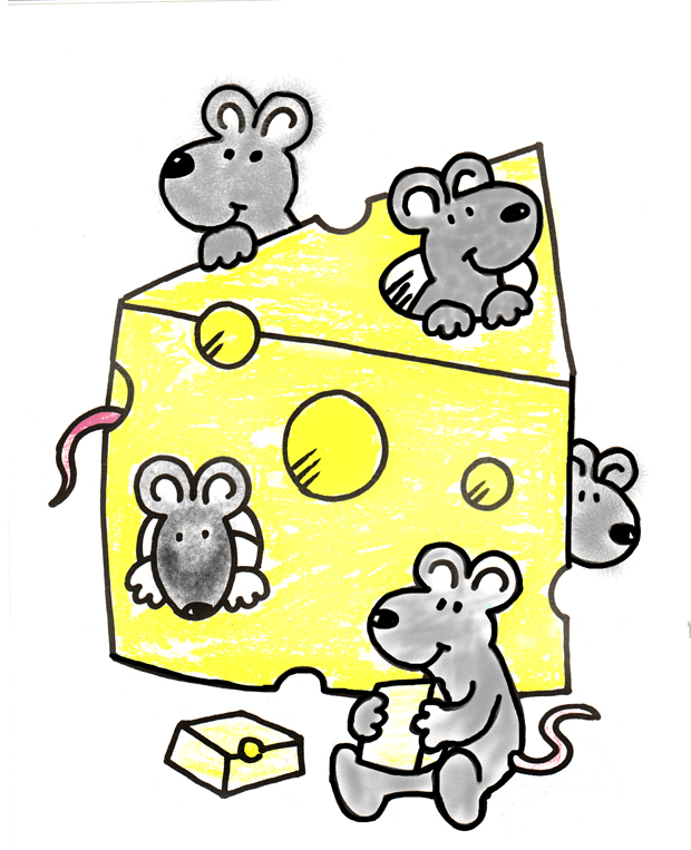 clipart mouse eating cheese - photo #18