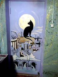 Cat and city by SekhetAaru