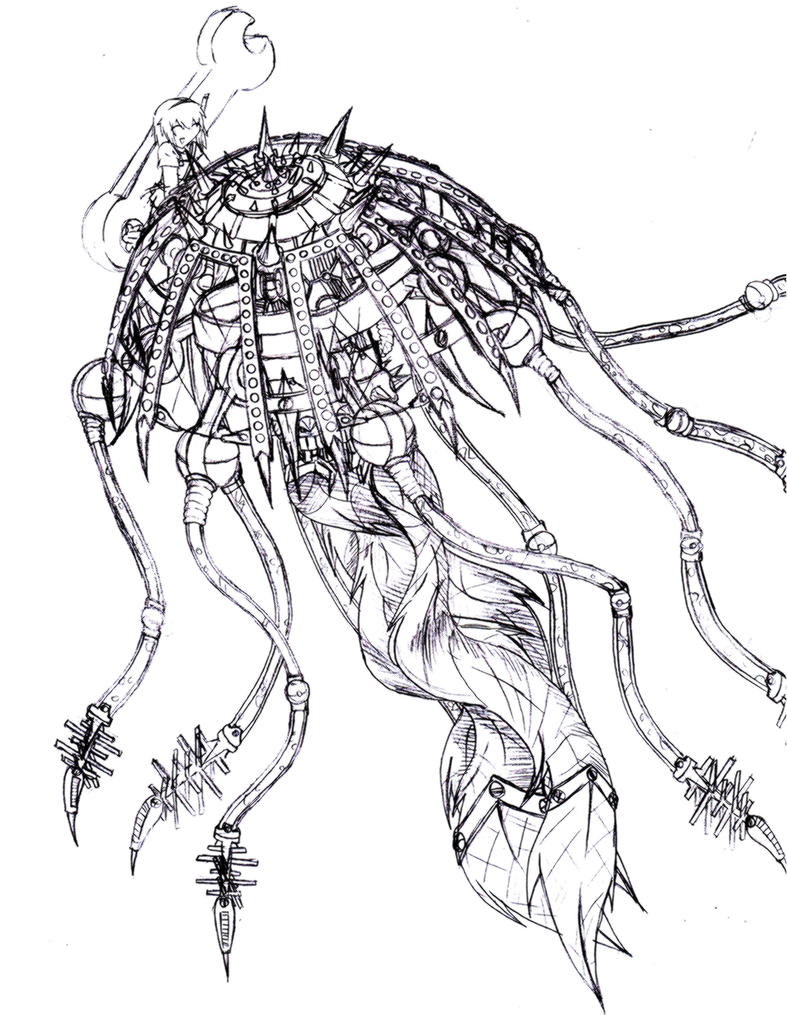 Jellyfish Line Art : Robot jellyfish by narni on deviantart