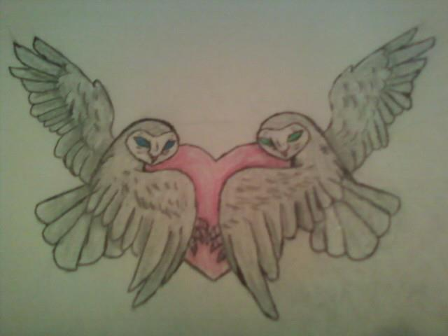 Owl heart tattoos for Owl heart tattoo