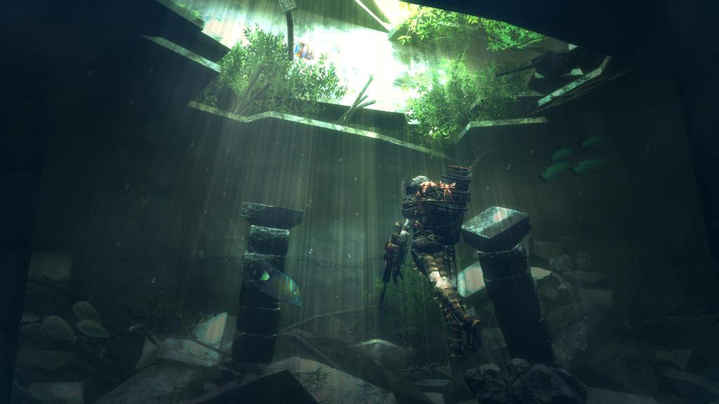 Real Underwater Ruins Underwater ruins by annethyl