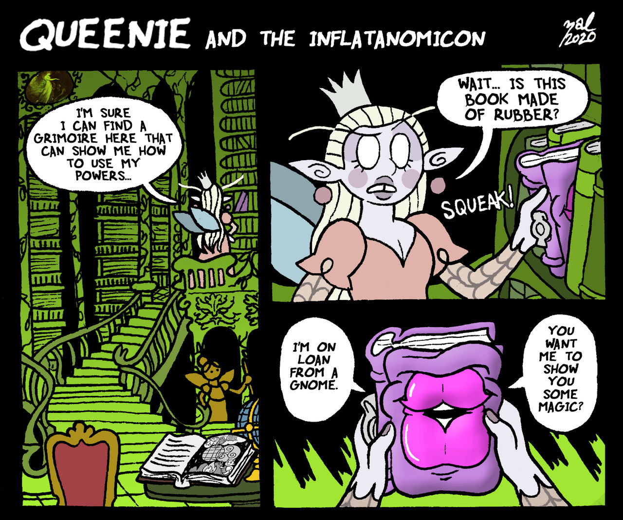 Queenie and the Inflatanomicon